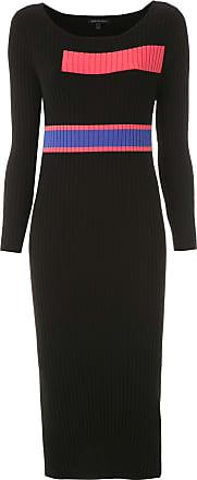 Armani Vestido midi de tricô - Preto