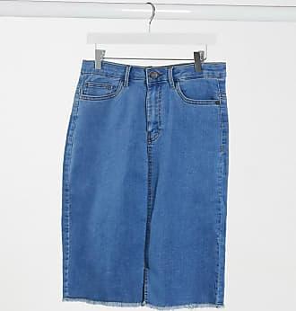Noisy May Gonna di jeans a vita alta con fondo grezzo blu medio