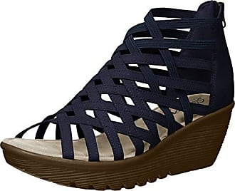 d9e8c99b7d7 Skechers Womens Parallel-Dream Queen-Caged Open Toe Sandal Wedge