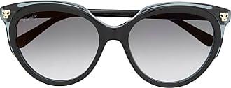 Cartier Óculos de sol oversized Panthère - Preto
