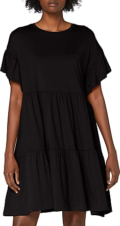 Only Womens ONLMAY New Life S/S CUTLINE Dress JRS, Black, M