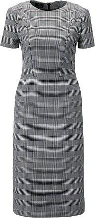Madeleine Etui-Kleid mit kurzen Ärmeln Damen schwarz/weiss / schwarz