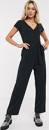 Hollister black short sleeve jumpsuit