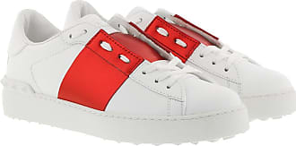 Valentino Sneakers - Bicolor Rockstud Sneaker White Red - red, white - Sneakers for ladies
