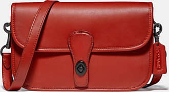 Coach Turnlock Tab Messenger in Red