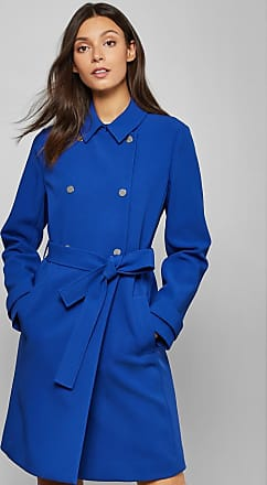 Ted Baker Double Breasted Mac in Blue BEAUY, Womens Clothing