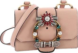 54f003edc64 Miu Miu Miu Miu Madras Crystal Buckle Shoulder Bag Leather Small