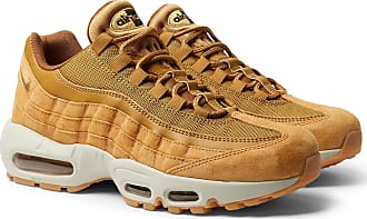 Nike Air Max 95 Se Mesh, Leather And Suede Sneakers - Camel