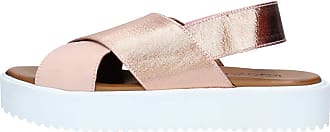 Inuovo Sandal with Wedge in Laminated Leather Blush Strap. Heel 3 cm MOD. 128007 Blush Pink Size: 6 UK