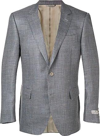 Canali classic check blazer - Blue