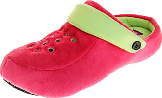 Dunlop Womens Adjustable Back Strap Lightweight Mule Clog Slippers Pink/Green UK 5-6