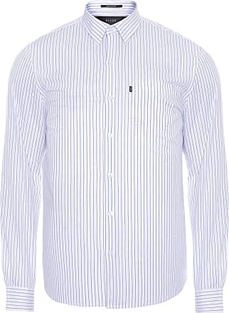 Ellus CAMISA MASCULINA LIGHT STRIPES POCKET CLASSIC - BRANCO
