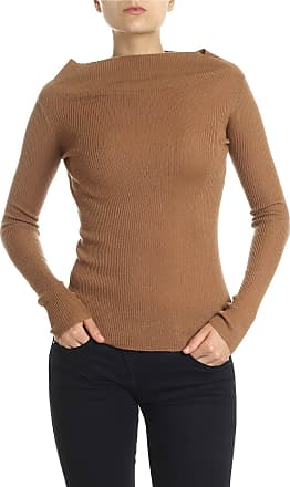 360 Cashmere Hazelnut colored ribbed sweater