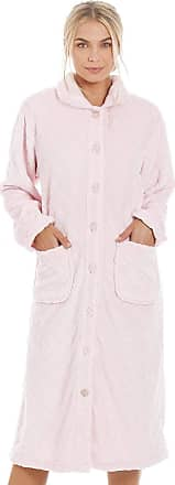 Camille Womens Various Button Housecoats 22/24 Diamond Pink