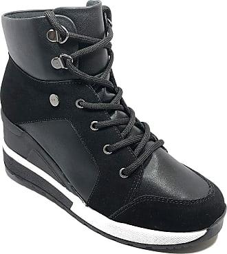 Quiz Tênis Botinha Quiz Sneaker Anabela Feminino - Preto - 38