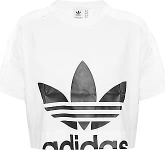 adidas Cropped T-shirt With Logo Womens White