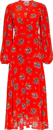 Ganni Vestido longo Kochhar de seda - Vermelho