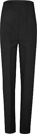 Islander Fashions Womens Half Elastic Bingo Trousers Office Work Summer Pants Black UK 16/27 Inches