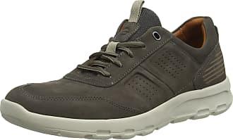 Rockport Lets Walk Mens Ubal Trainers, Green (Dark Olive Nubuck 002), 10.5 UK (45 EU)