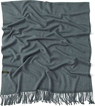 CJ Apparel Grey Thick Solid Colour Design Cotton Blend Shawl Scarf Wrap Stole Pashmina NEW(Size: One Size)