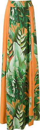 Amir Slama printed maxi skirt - ORANGE