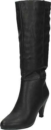 Spot On Ladies Spot On High Leg Boots F50201 - Black Patent - UK Size 5 - EU Size 38 - US Size 7