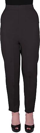 Eyecatch Louisa Ladies Elasticated Waist Trousers Womens Pull On Easy Comfort Fit Regular Length Black Size 18