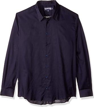 Vilebrequin Mens Cotton Voile Solid Shirt-XXL, Navy