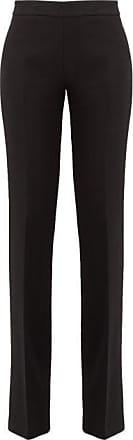 Giambattista Valli Mid-rise Wool-crepe Trousers - Womens - Black