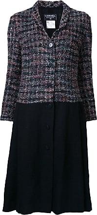 Chanel contrast panel coat - Multicolour