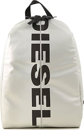 Diesel Backpack for Men On Sale, Silver, polyurethane, 2017, one size