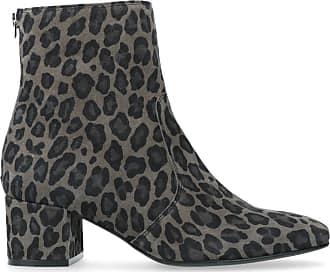 Manfield Beigefarbene Stiefeletten mit Leopardenmuster und kleinem Absatz  (36 37 38 39 a6406012cc