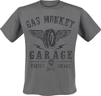 Gas Monkey Garage Tyres Part Service - T-Shirt - charcoal