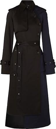 Rokh Paneled Cotton-blend Gabardine Trench Coat - Gray