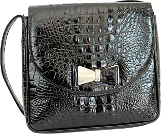 ccf8998c85e6 Gianni Versace Couture 1990s Gianni Versace Couture Black Leather Crocodile  Print Vintage Shoulder Bag
