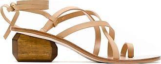 Osklen Pedra heel strappy sandals - Brown