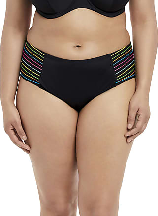 Elomi Womens Neon Nights Mid Rise Brief, 22, Black