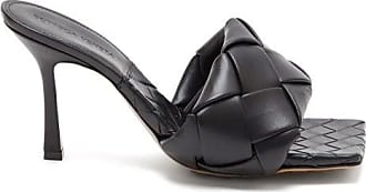 Bottega Veneta Bv Lido Intrecciato Woven Leather Mules - Womens - Black