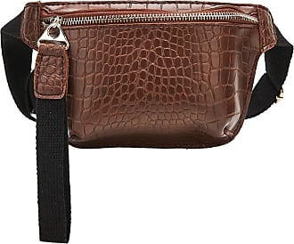 NA Waist Bag for Women chest bag pu Leather Fanny Pack Phone Pouch Chest Packs Ladies Wide Strap Belt Bag Female Crossbody ba,Red-Brown