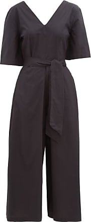 Merlette Serra Pima Cotton-poplin Jumpsuit - Womens - Black