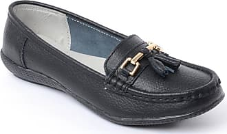 Chums Ladies Womens Leather Loafer Shoe Black 8 UK