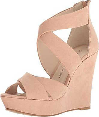 Chinese Laundry Womens Milani Wedge Sandal, Dark Nude Suede, 9.5 M US