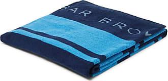 Orlebar Brown Seymour Logo-detailed Cotton-terry Beach Towel - Blue