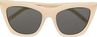 Saint Laurent Eyewear Óculos de sol quadrado SL214 - Neutro