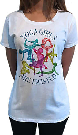 Irony Womens Yoga Girls are Twisted Meditation Poses Funny Slogan Print TS1096 (White, XXLarge)