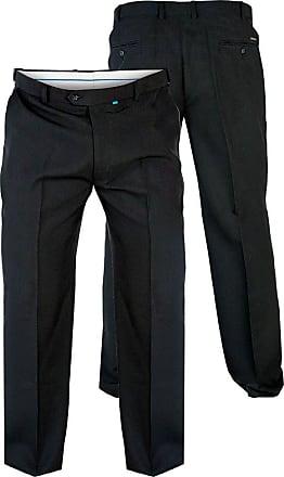 Duke London Duke Mens D555 Max Flexi Waist Trouser-Black-64W X 30L