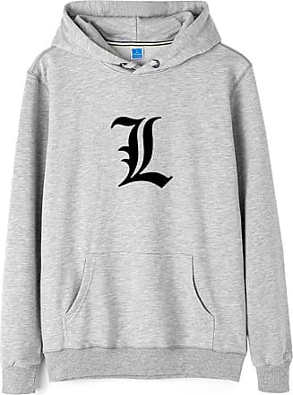 Haililais Death Note Pullover Pullover Sweatshirt Long Sleeve Sweater Outerwear Adult Casual Sports Fashion Wild Warm Men and Women Unisex (Color : Gray01, Size
