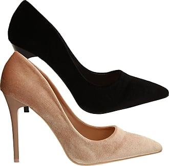 Swankyswans Kate Womens Slip On Velvet Stiletto High Heel Ladies Court Shoes
