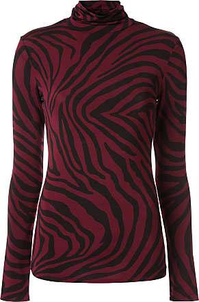 Layeur Suéter com estampa de zebra - Vermelho
