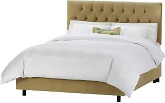 Skyline Furniture Tufted Velvet Upholstered Bed Velvet-Aubergine Purple, Size: Queen - 542BED-Q-VELVT-AUBRG